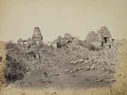 General view of ruined temples at Suvan Kansari Talao, Ghumli, Kathiawar
